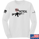 704 Tactical 704 Tactical Full Logo Long Sleeve T-Shirt Long Sleeve Small / White by Ballistic Ink - Made in America USA