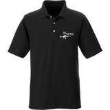 704 Tactical 704 Tactical Logo Polo Polos Small / Black by Ballistic Ink - Made in America USA
