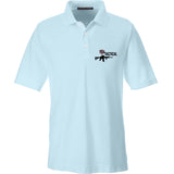 704 Tactical 704 Tactical Logo Polo Polos Small / Crystal Blue by Ballistic Ink - Made in America USA