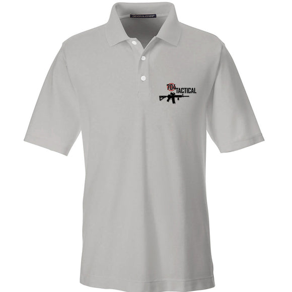 704 Tactical 704 Tactical Logo Polo Polos Small / Silver by Ballistic Ink - Made in America USA
