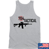 704 Tactical 704 Tactical Full Logo Tank Tanks SMALL / Light Grey by Ballistic Ink - Made in America USA