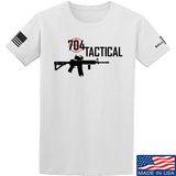 704 Tactical 704 Tactical Full Logo T-Shirt T-Shirts Small / White by Ballistic Ink - Made in America USA