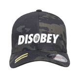 9mmsmg Disobey Flexfit® Multicam® Trucker Cap Headwear [variant_title] by Ballistic Ink - Made in America USA