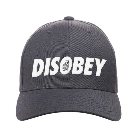 9mmsmg Disobey Snapback Cap Headwear Dark Grey by Ballistic Ink - Made in America USA