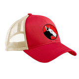 9mmsmg 9mmsmg Logo Snapback Cap Headwear Red/Oyster by Ballistic Ink - Made in America USA