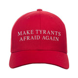 9mmsmg Make Tyrants Afraid Again Snapback Cap Headwear Red by Ballistic Ink - Made in America USA