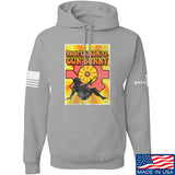 9mmsmg It's hard out here for a bunny Hoodie Hoodies Small / Light Grey by Ballistic Ink - Made in America USA
