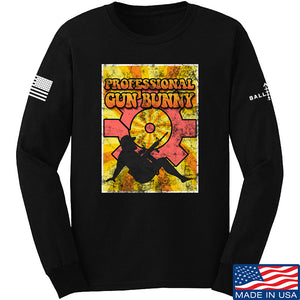 9mmsmg It's hard out here for a bunny Long Sleeve T-Shirt Long Sleeve Small / Navy by Ballistic Ink - Made in America USA