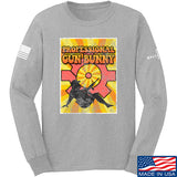 9mmsmg It's hard out here for a bunny Long Sleeve T-Shirt Long Sleeve Small / Light Grey by Ballistic Ink - Made in America USA