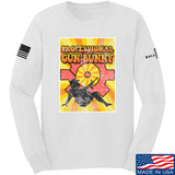 9mmsmg It's hard out here for a bunny Long Sleeve T-Shirt Long Sleeve Small / White by Ballistic Ink - Made in America USA