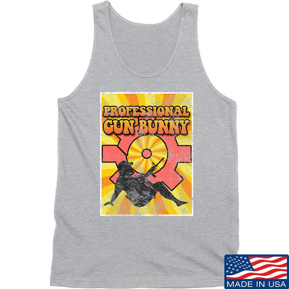 9mmsmg It's hard out here for a bunny Tank Tanks SMALL / Light Grey by Ballistic Ink - Made in America USA