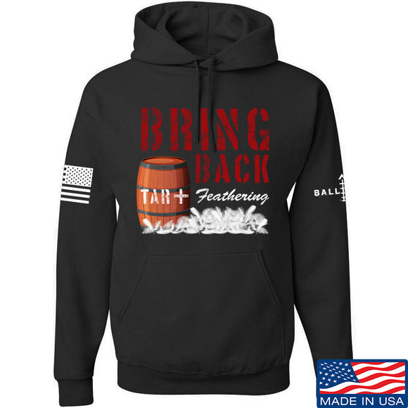 9mmsmg Tar and Feathers Hoodie Hoodies Small / Black by Ballistic Ink - Made in America USA