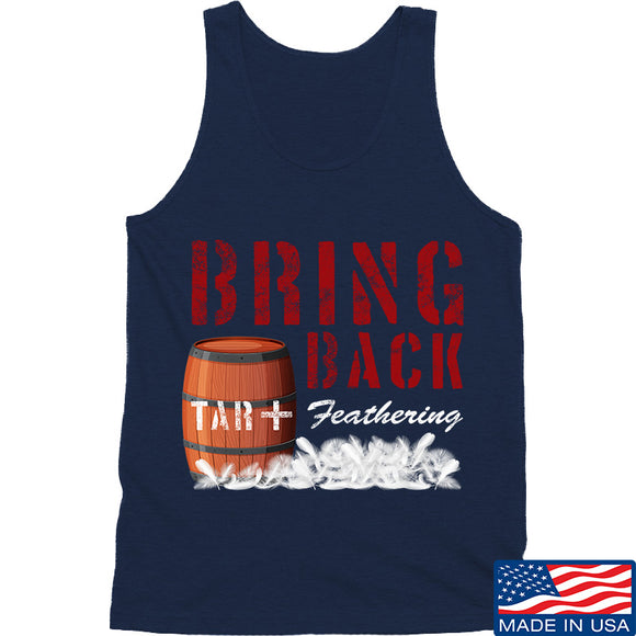 9mmsmg Tar and Feathers Tank Tanks SMALL / Navy by Ballistic Ink - Made in America USA