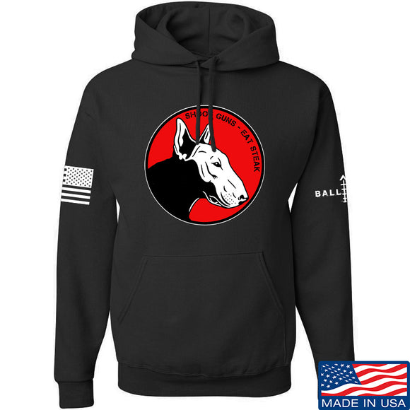 9mmsmg 9mmsmg Logo Hoodie Hoodies Small / Black by Ballistic Ink - Made in America USA
