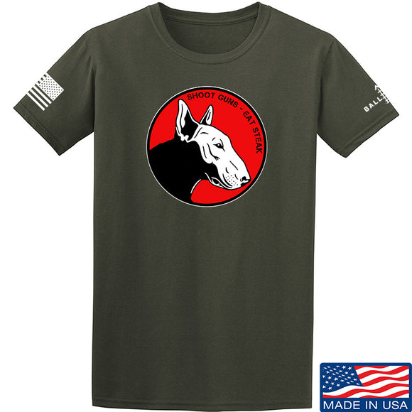 9mmsmg 9mmsmg Logo T-Shirt T-Shirts Small / Military Green by Ballistic Ink - Made in America USA