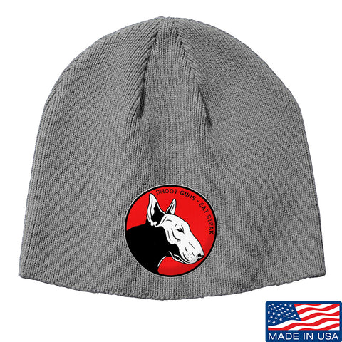 9mmsmg 9mmsmg Logo Beanie Headwear Grey by Ballistic Ink - Made in America USA