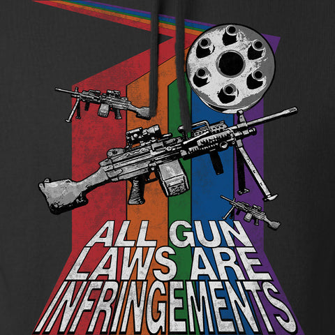 9mmsmg All Gun Laws Are Infringements Hoodie Hoodies [variant_title] by Ballistic Ink - Made in America USA
