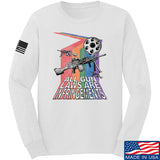 9mmsmg All Gun Laws Are Infringements Long Sleeve T-Shirt Long Sleeve Small / White by Ballistic Ink - Made in America USA