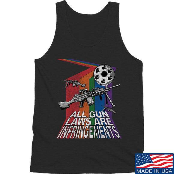 9mmsmg All Gun Laws Are Infringements Tank Tanks SMALL / Black by Ballistic Ink - Made in America USA