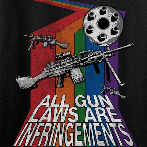 9mmsmg All Gun Laws Are Infringements T-Shirt T-Shirts [variant_title] by Ballistic Ink - Made in America USA