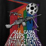 9mmsmg Ladies All Gun Laws Are Infringements V-Neck T-Shirts, V-Neck [variant_title] by Ballistic Ink - Made in America USA