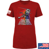 9mmsmg Ladies All Gun Laws Are Infringements T-Shirt T-Shirts SMALL / Red by Ballistic Ink - Made in America USA
