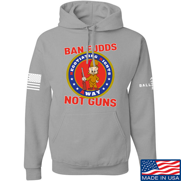 9mmsmg Ban Fudds Not Guns Hoodie Hoodies Small / Light Grey by Ballistic Ink - Made in America USA
