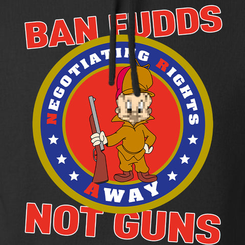 9mmsmg Ban Fudds Not Guns Hoodie Hoodies [variant_title] by Ballistic Ink - Made in America USA