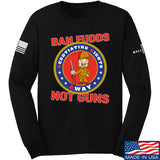 9mmsmg Ban Fudds Not Guns Long Sleeve T-Shirt Long Sleeve Small / Black by Ballistic Ink - Made in America USA