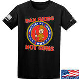 9mmsmg Ban Fudds Not Guns T-Shirt T-Shirts Small / Black by Ballistic Ink - Made in America USA