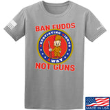 9mmsmg Ban Fudds Not Guns T-Shirt T-Shirts Small / Light Grey by Ballistic Ink - Made in America USA