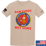 9mmsmg Ban Fudds Not Guns T-Shirt T-Shirts Small / Sand by Ballistic Ink - Made in America USA