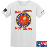 9mmsmg Ban Fudds Not Guns T-Shirt T-Shirts Small / White by Ballistic Ink - Made in America USA