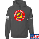 9mmsmg Better Dead Than Red Hoodie Hoodies Small / Charcoal by Ballistic Ink - Made in America USA