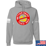 9mmsmg Better Dead Than Red Hoodie Hoodies Small / Light Grey by Ballistic Ink - Made in America USA