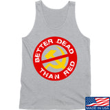 9mmsmg Better Dead Than Red Tank Tanks SMALL / Light Grey by Ballistic Ink - Made in America USA