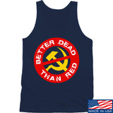 9mmsmg Better Dead Than Red Tank Tanks SMALL / Navy by Ballistic Ink - Made in America USA