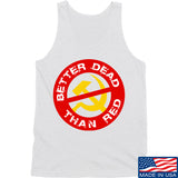 9mmsmg Better Dead Than Red Tank Tanks SMALL / White by Ballistic Ink - Made in America USA