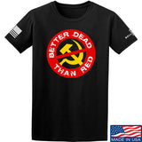 9mmsmg Better Dead Than Red T-Shirt T-Shirts Small / Black by Ballistic Ink - Made in America USA