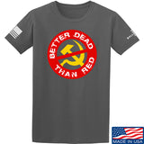 9mmsmg Better Dead Than Red T-Shirt T-Shirts Small / Charcoal by Ballistic Ink - Made in America USA