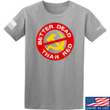 9mmsmg Better Dead Than Red T-Shirt T-Shirts Small / Light Grey by Ballistic Ink - Made in America USA