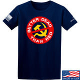 9mmsmg Better Dead Than Red T-Shirt T-Shirts Small / Navy by Ballistic Ink - Made in America USA