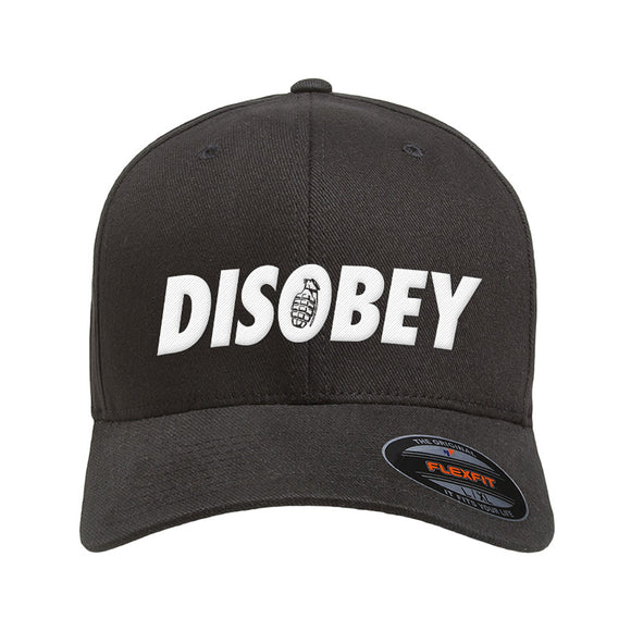 9mmsmg Disobey Flexfit® Cap Headwear [variant_title] by Ballistic Ink - Made in America USA