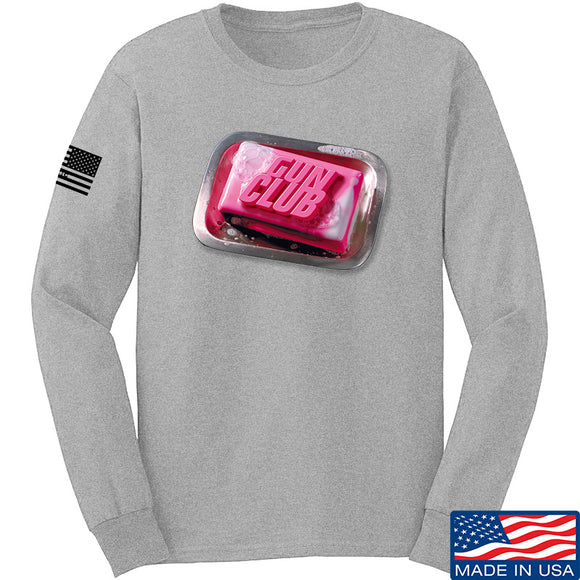 9mmsmg Gun Club Long Sleeve T-Shirt Long Sleeve Small / Light Grey by Ballistic Ink - Made in America USA