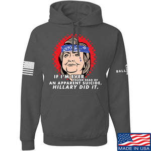 9mmsmg Hillary Did It Hoodie Hoodies Small / Black by Ballistic Ink - Made in America USA