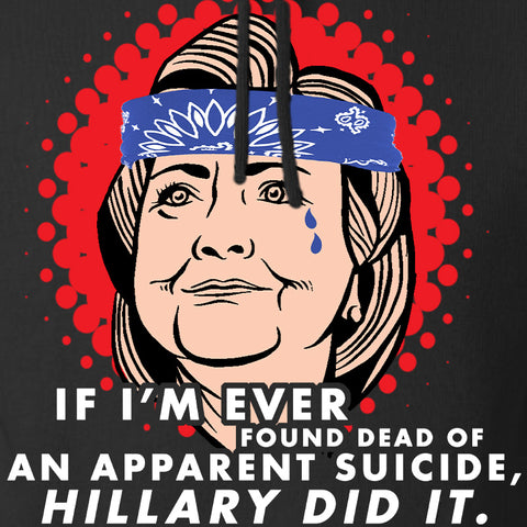 9mmsmg Hillary Did It Hoodie Hoodies [variant_title] by Ballistic Ink - Made in America USA