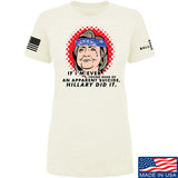 9mmsmg Ladies Hillary Did It T-Shirt T-Shirts SMALL / Cream by Ballistic Ink - Made in America USA