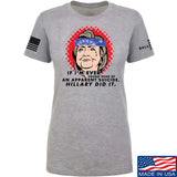 9mmsmg Ladies Hillary Did It T-Shirt T-Shirts SMALL / Light Grey by Ballistic Ink - Made in America USA