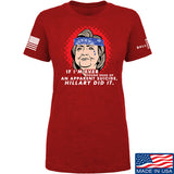 9mmsmg Ladies Hillary Did It T-Shirt T-Shirts SMALL / Red by Ballistic Ink - Made in America USA