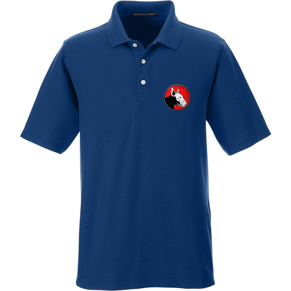 9mmsmg 9mmsmg Logo Polo Polos Small / True Royal by Ballistic Ink - Made in America USA